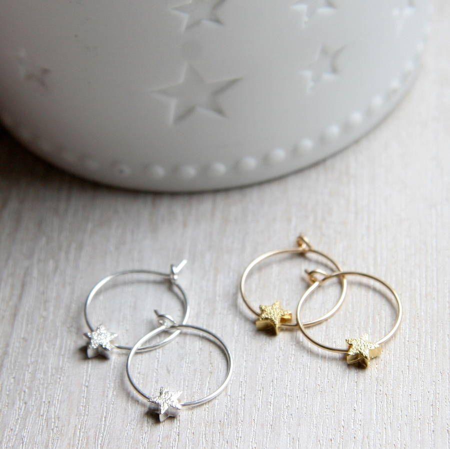 Star hoop earrings by Myhartbeading not on the highstreet £33