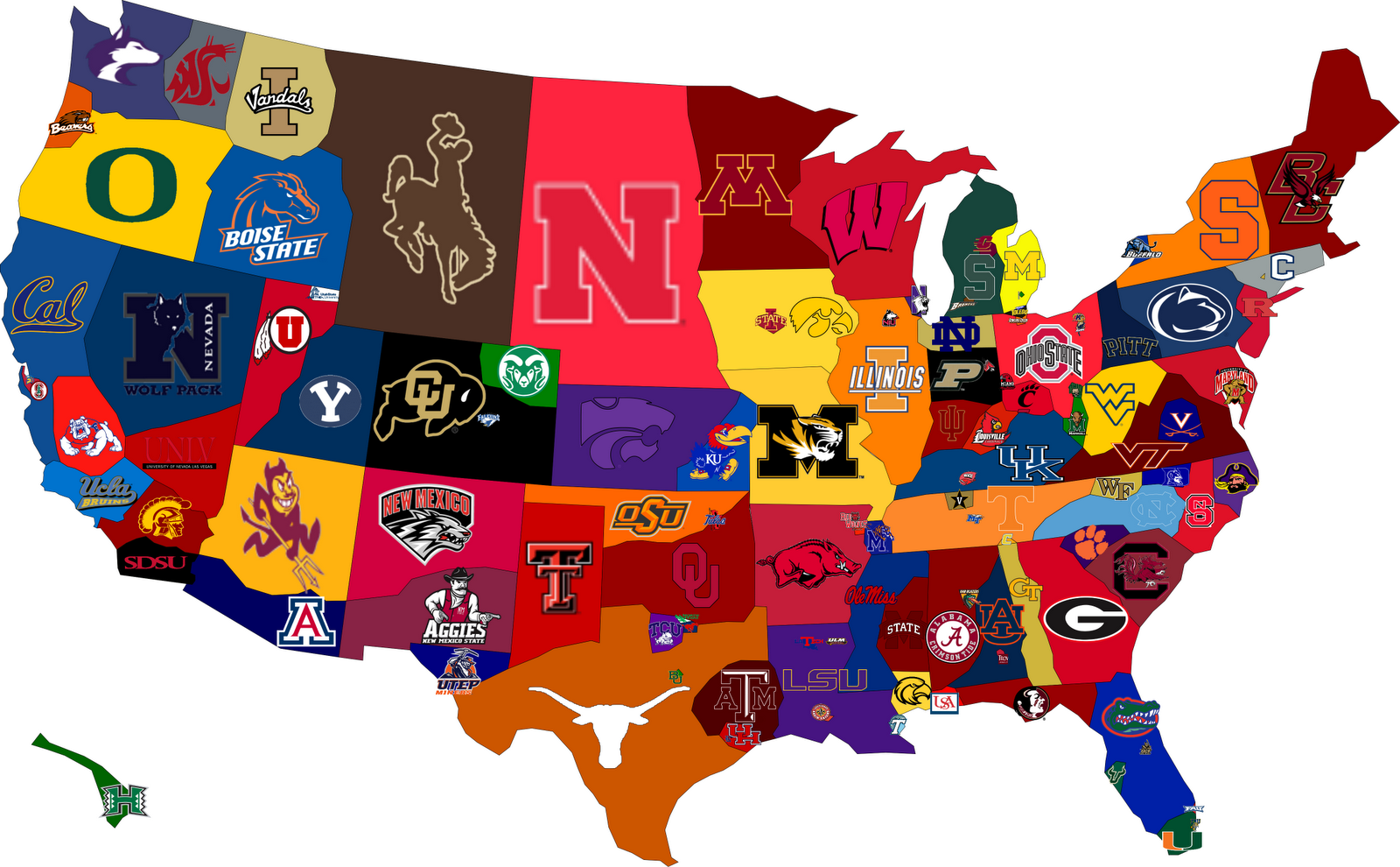 College Football Map Fussballstadien College Football Sport Motivation