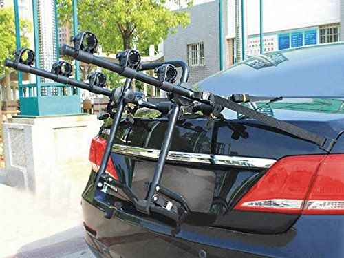 3 Bike Bicycle Cycle Rack Rear Trunk Mount Hitch Carrier For Car Suv