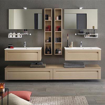 Meubles salle de bains Unique Wood 90 cm Delpha