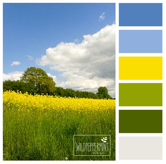 Wandfarben Farbpalette Gelb: #Farbpalette, Farbinspiration, #frühlingsfrische Farben
