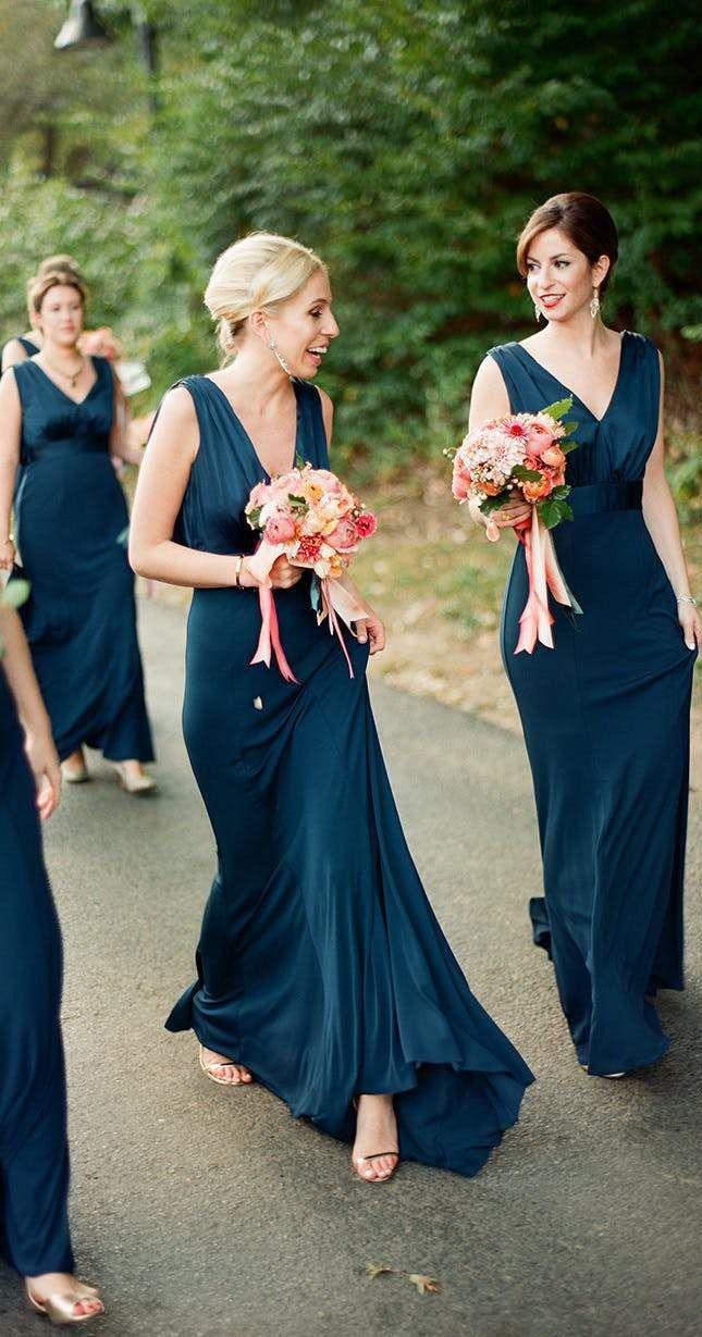 Simple plus size v neck cheap sheath bridesmaid dresses long ard