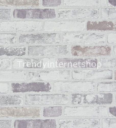Tapete-Vlies-Erismann-BRIX-6703-10-Steintapete-Stein-Mauer-Ziegel - graue tapete wohnzimmerwohnzimmer fliesen beige matt