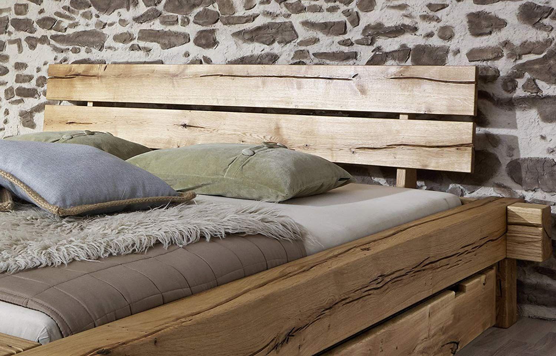 Sam Massiv Holzbett 180x200 Cm Johann Mit Schubkästen Bett Aus Geölter Wildeiche Amazon De Küche Haushalt Holzbett Massivholzbett Bett