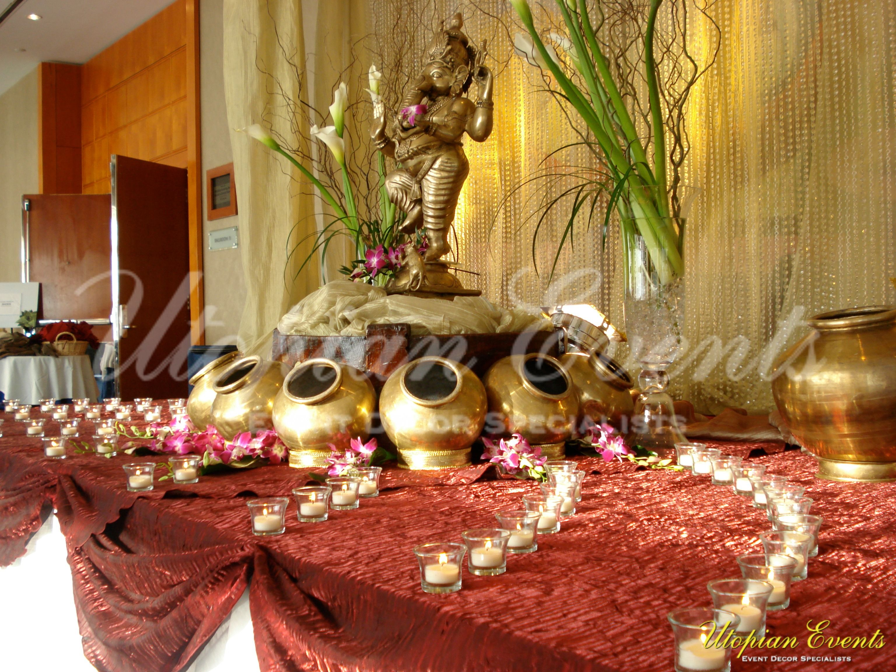 Beautiful Utopian Events Ganesh Table For Your Welcome Area, White