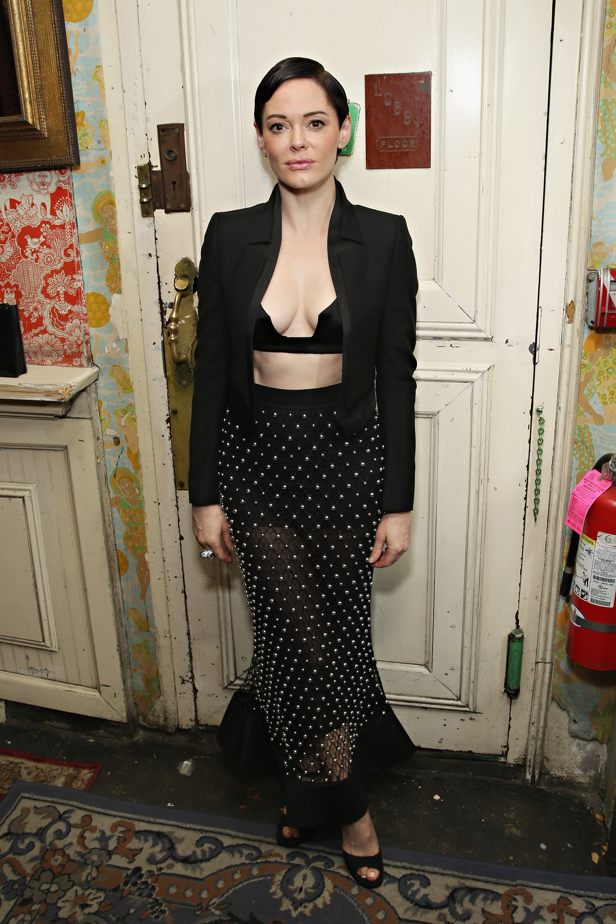 Rose McGowan attends the Casa Reale Fine Jewelry Launch at The Box on June 17, 2015 in New York City.