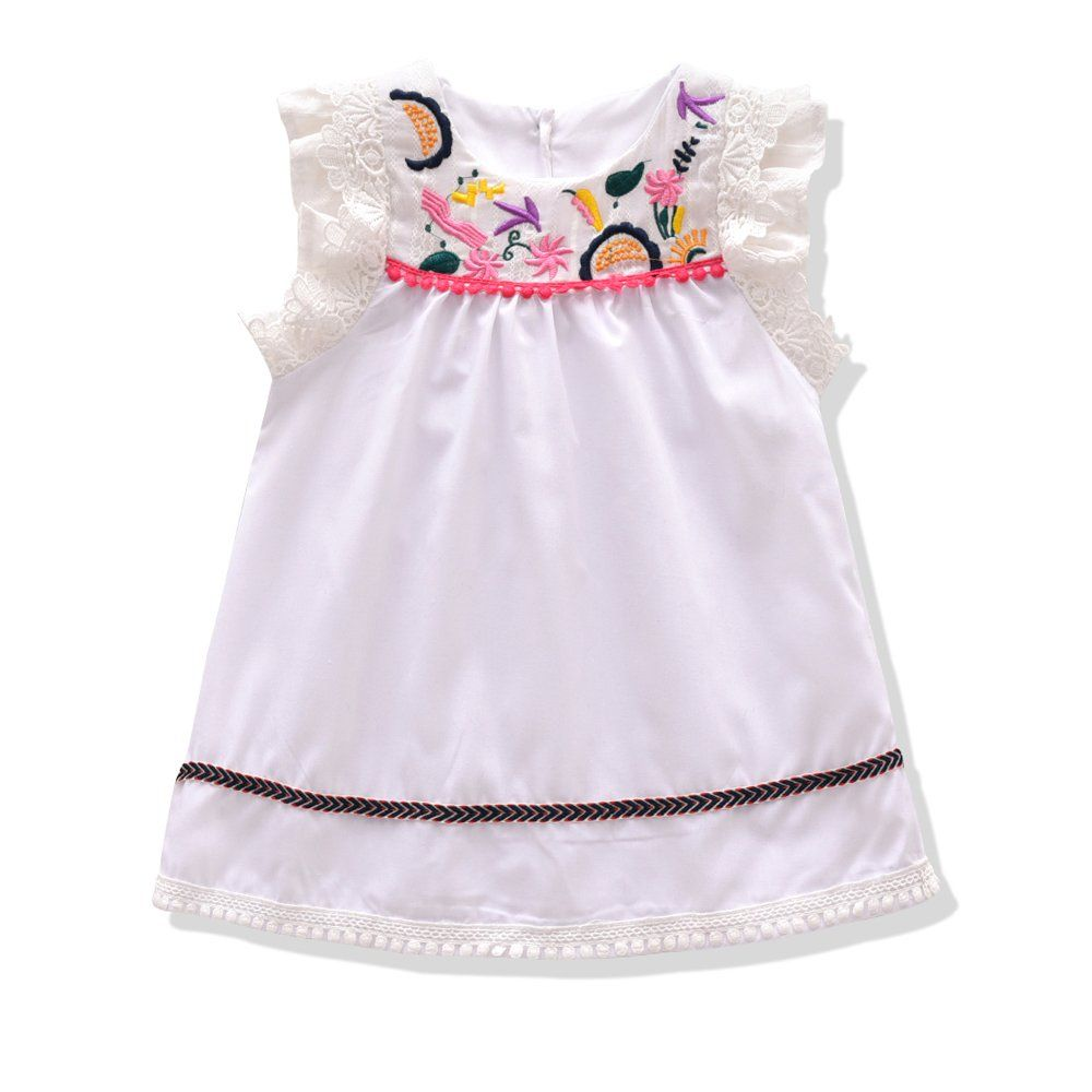 Little Girls Dress Gmayoo Formal Dresses Summer Sleeveless Cotton Casual Dress 110 S 4 For 3 4 Years White Summer Dresses Little Girl Dresses Casual Dress [ 1000 x 1000 Pixel ]