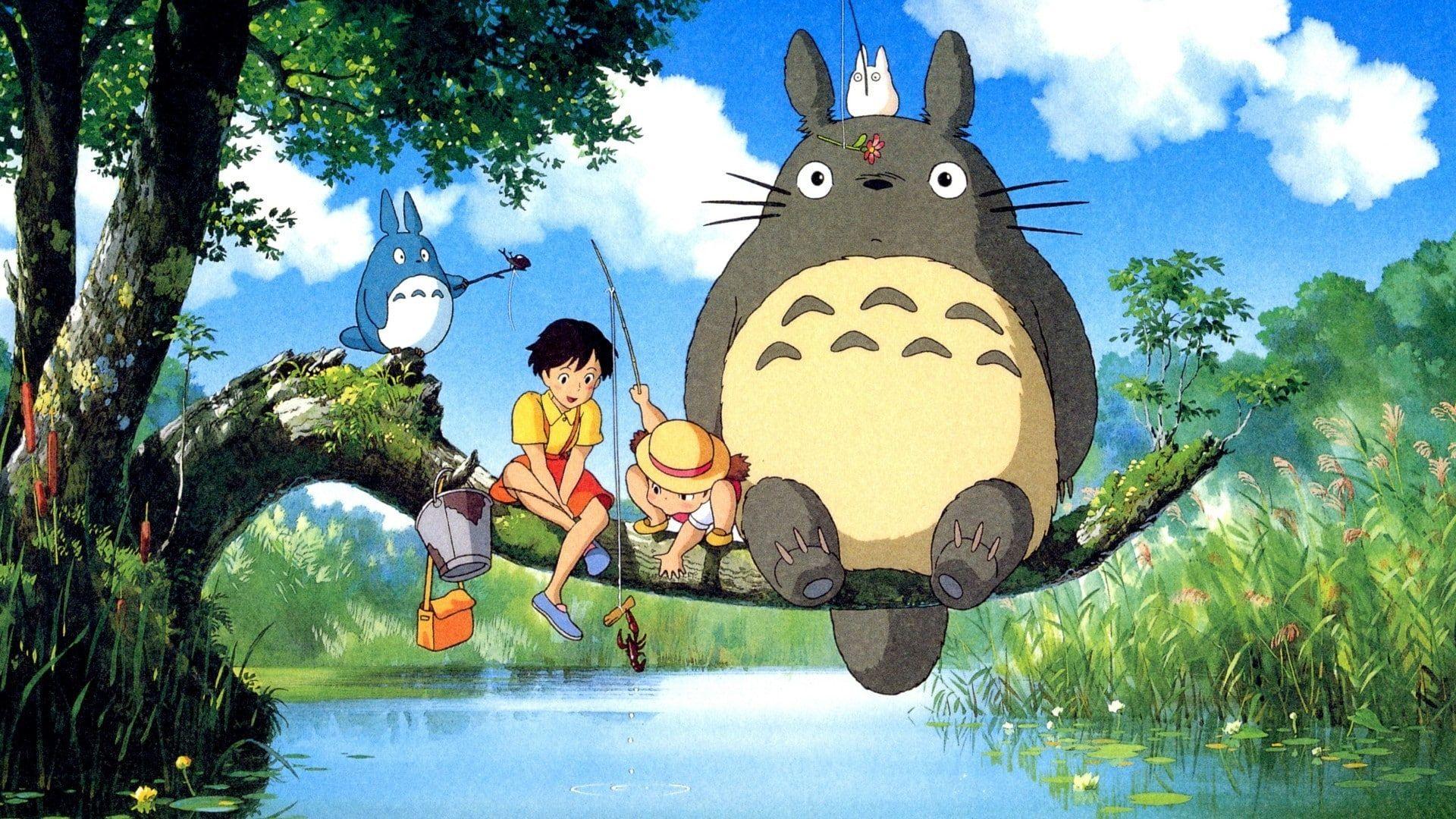 My Neighbor Totoro Studio Ghibli Totoro 1080p Wallpaper Hdwallpaper Desktop In 2020 Howls Moving Castle Wallpaper Studio Ghibli My Neighbor Totoro
