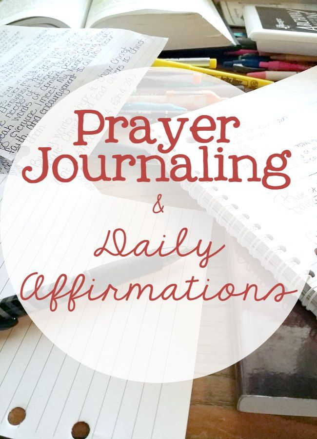 Daily Affirmations And Prayer Journaling Daily Affirmations