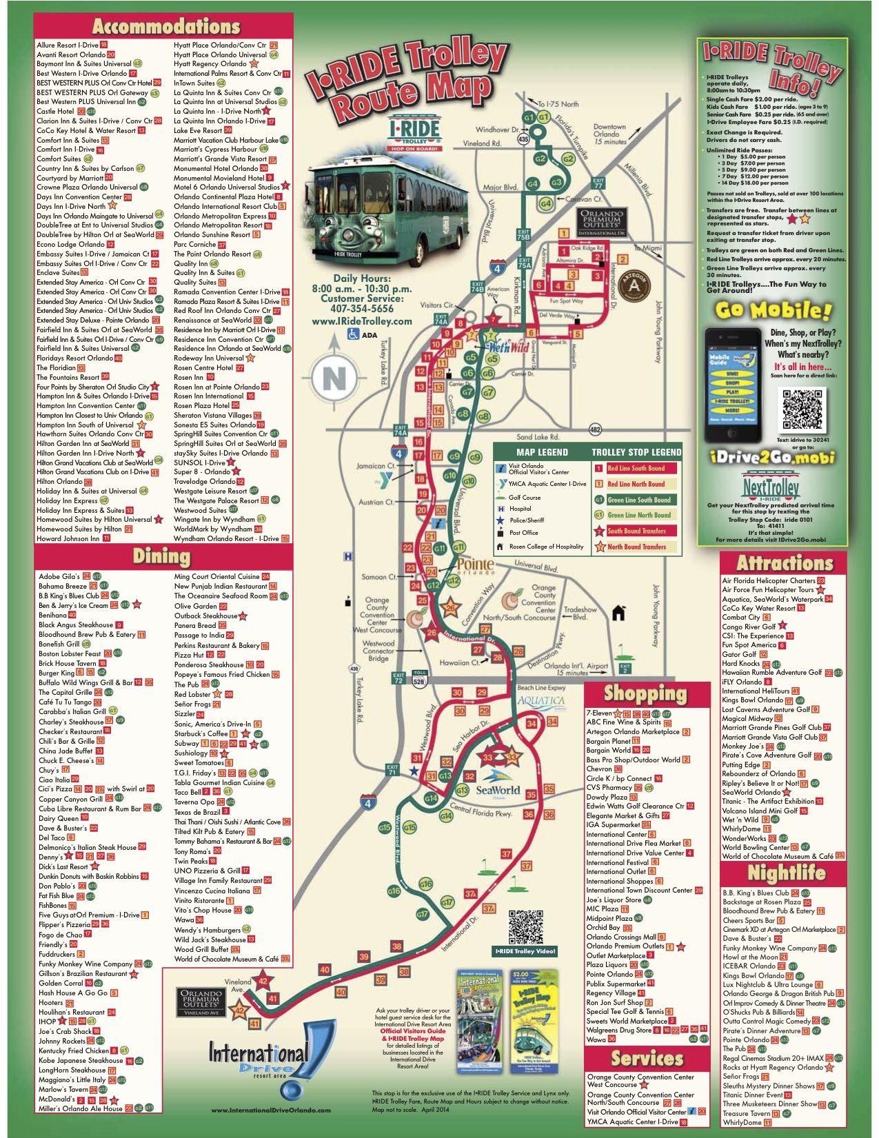 i ride orlando map I Ride Trolley Route Map New Orleans Travel Guide Orlando Travel Florida Travel i ride orlando map