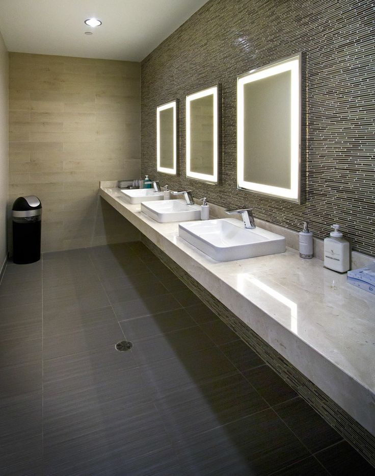 Commercial bathroom design of fine ideas about restroom for Washroom renovation ideas