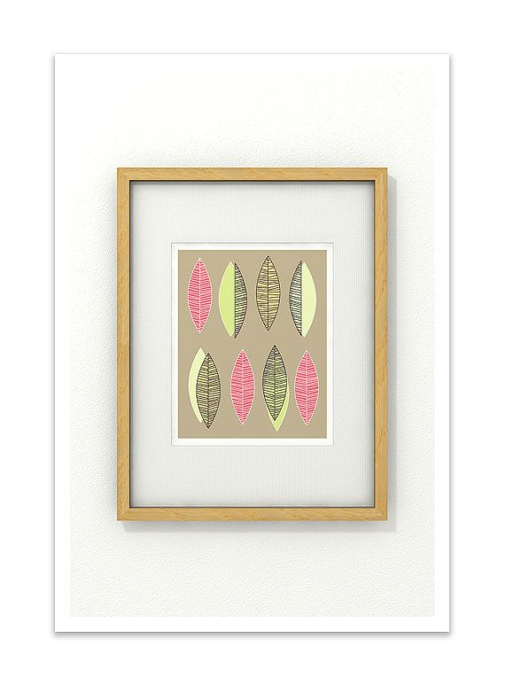 SECOND SPRING  8x10 Giclee Print  Clean Modern Mid by Thedor, $18.00