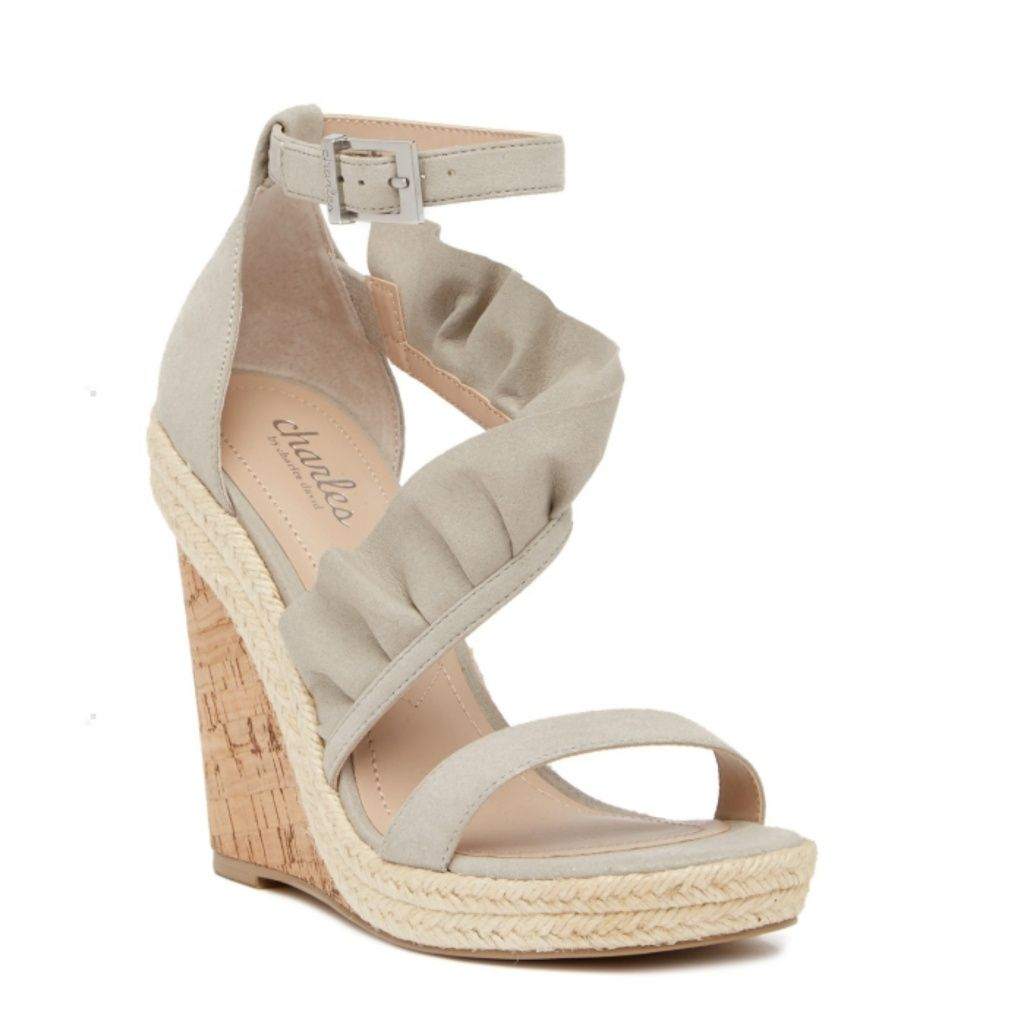 e907c673519 Charles David Shoes | Charles David Brooke Ruffle Wedge Sandal ...