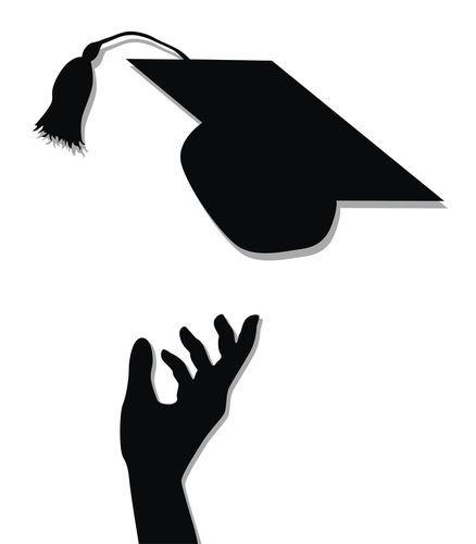 Pin Oleh Om Ameerah Di Graduation Ilustrasi Sketsa Siluet