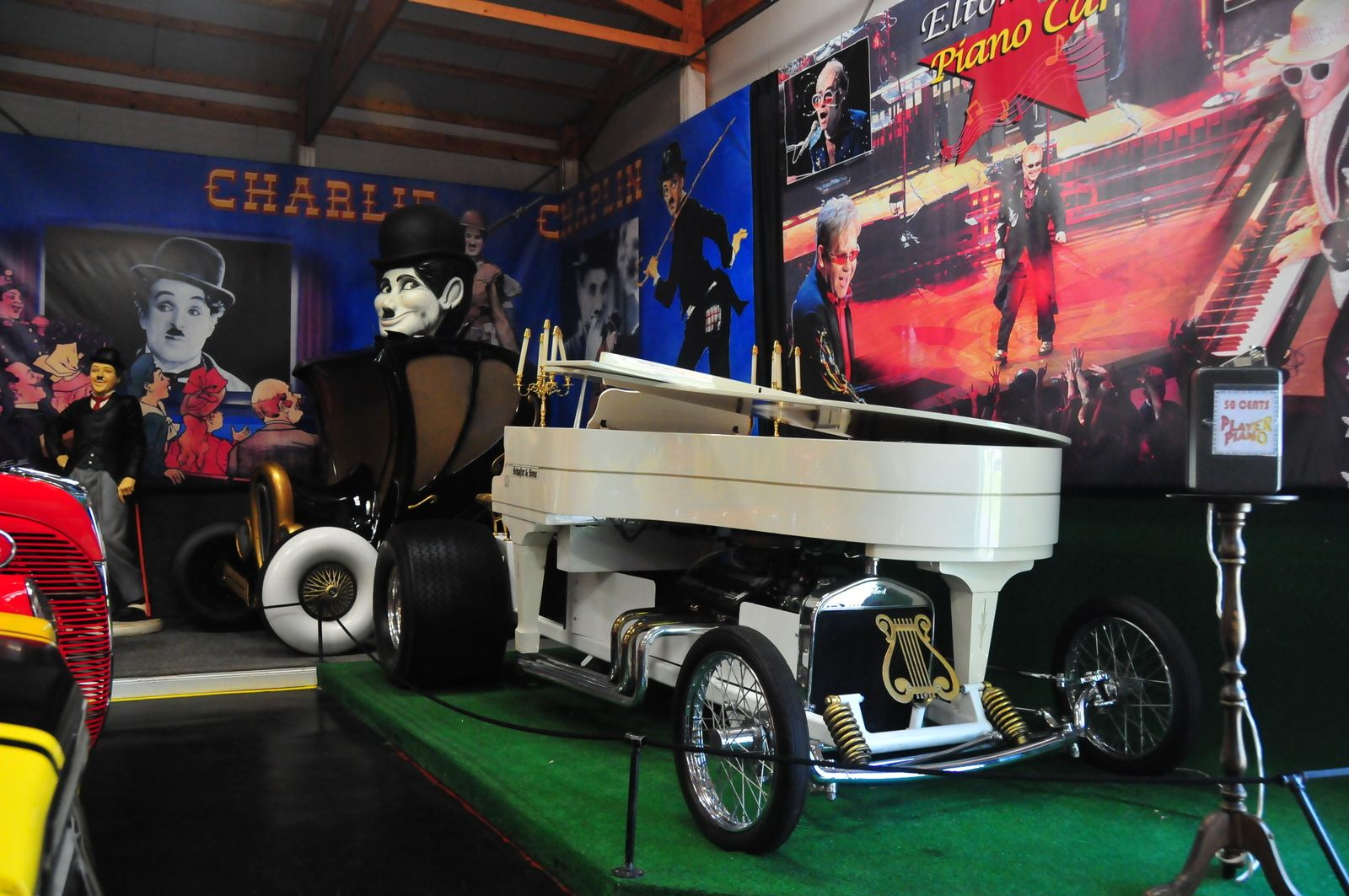 Piano car that actually drives and plays music on display at the ...