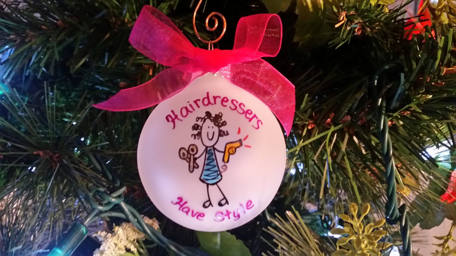 Hairdresser Christmas ornament - Personalized Custom hair ...