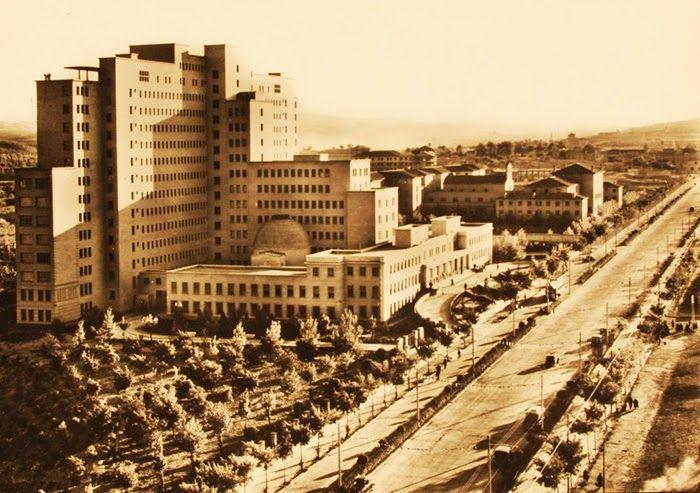 Zaragoza 1955 se inaugura el hospital universitario miguel servet en el paseo de isabel la - Casa grande zaragoza ...