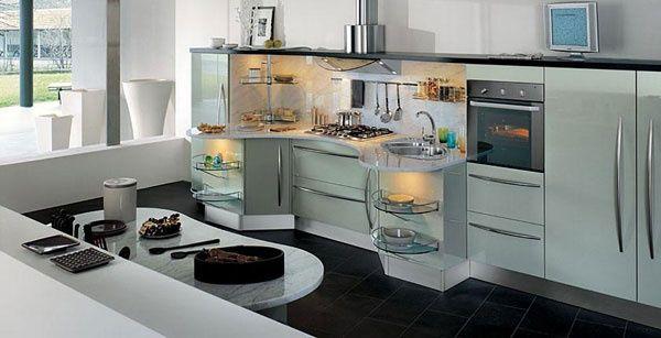 Cucina laccato lucido grigio tortora Skyline, Snaidero | Cucine ...
