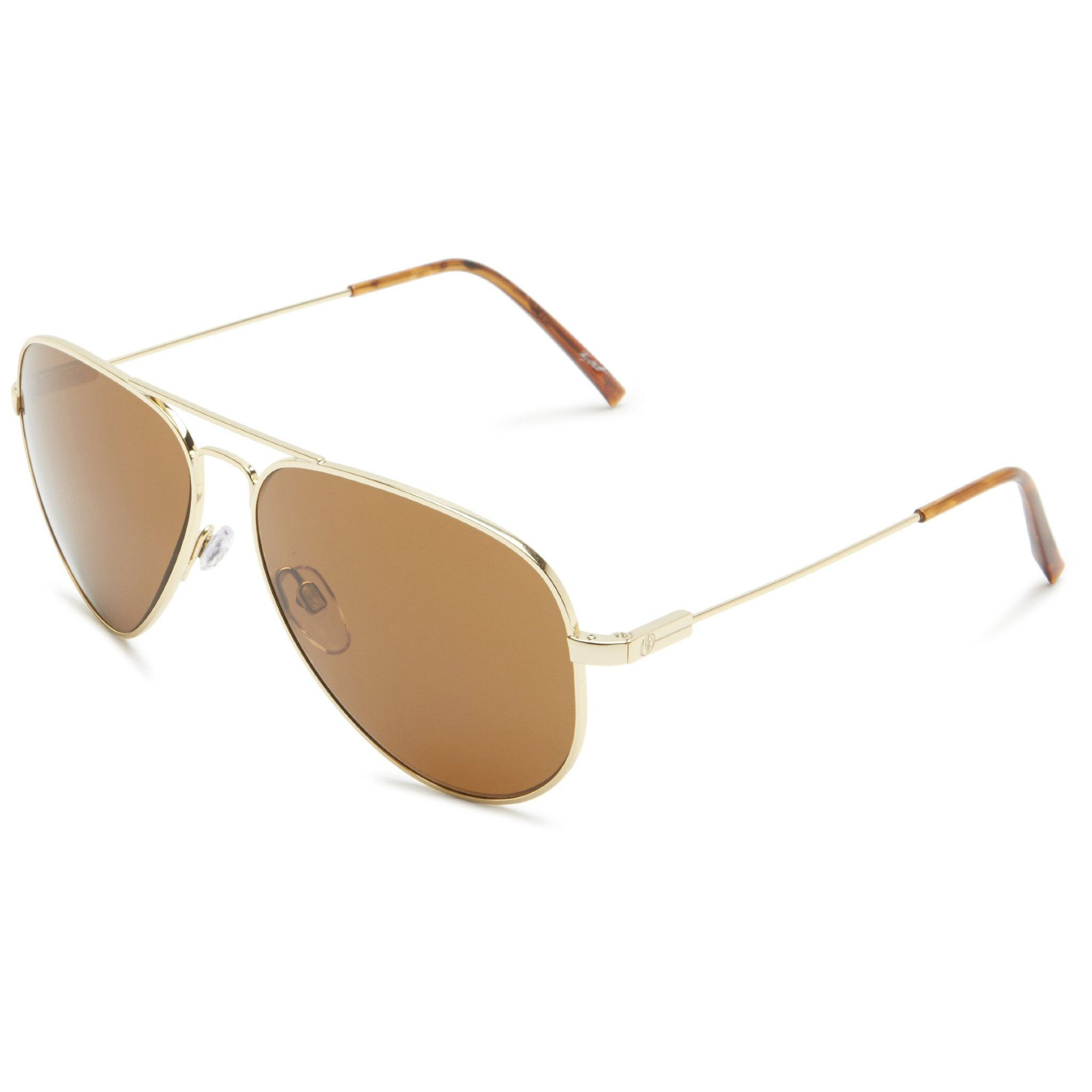 Electric Visual Av.1 Aviator Sunglasses Gold Tone Frame Bronze Lens ES11109839