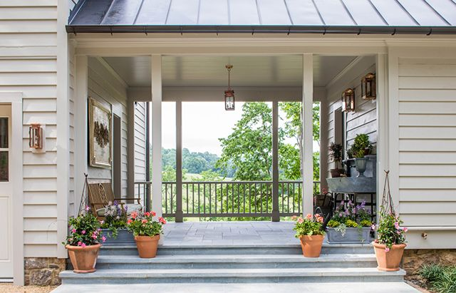 Fox Hill House With Porch Southern Living Homes Breezeway
