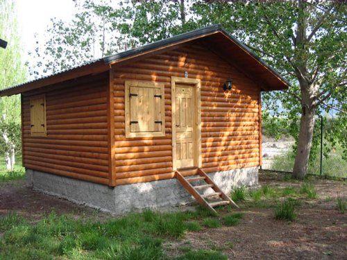 Casas de madera prefabricada modelo bungalow 26 m for Cabanas madera baratas
