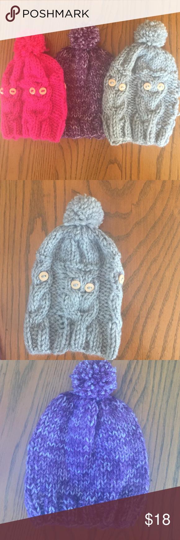 Handmade hats! Handmade hat! 0-3 months & 3-6 months bundle of three girls hats! Accessories Hats