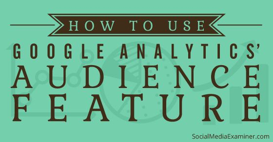 How to Use Google Analytics Audience Data to Improve Your Marketing : Social Media Examiner