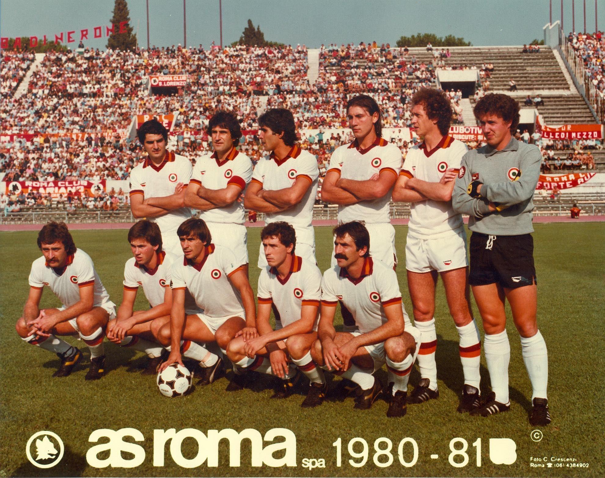AS Roma team group in 198081. Giocatori di calcio, Calcio
