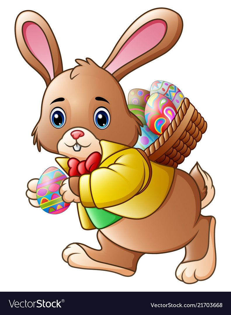 25++ Easter bunny with basket clipart ideas