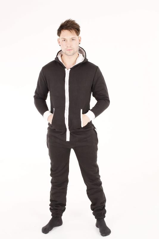 7e259df748 A black hooded qualuity adult onesie suitable for both men and women  Smaller sizes also perfect