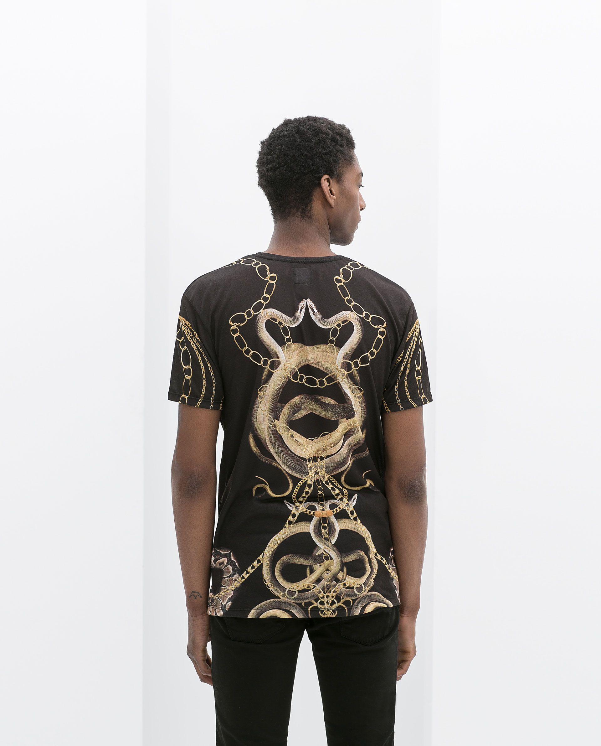 T shirt design hong kong - Snake Print T Shirt T Shirts Man Zara Hong Kong