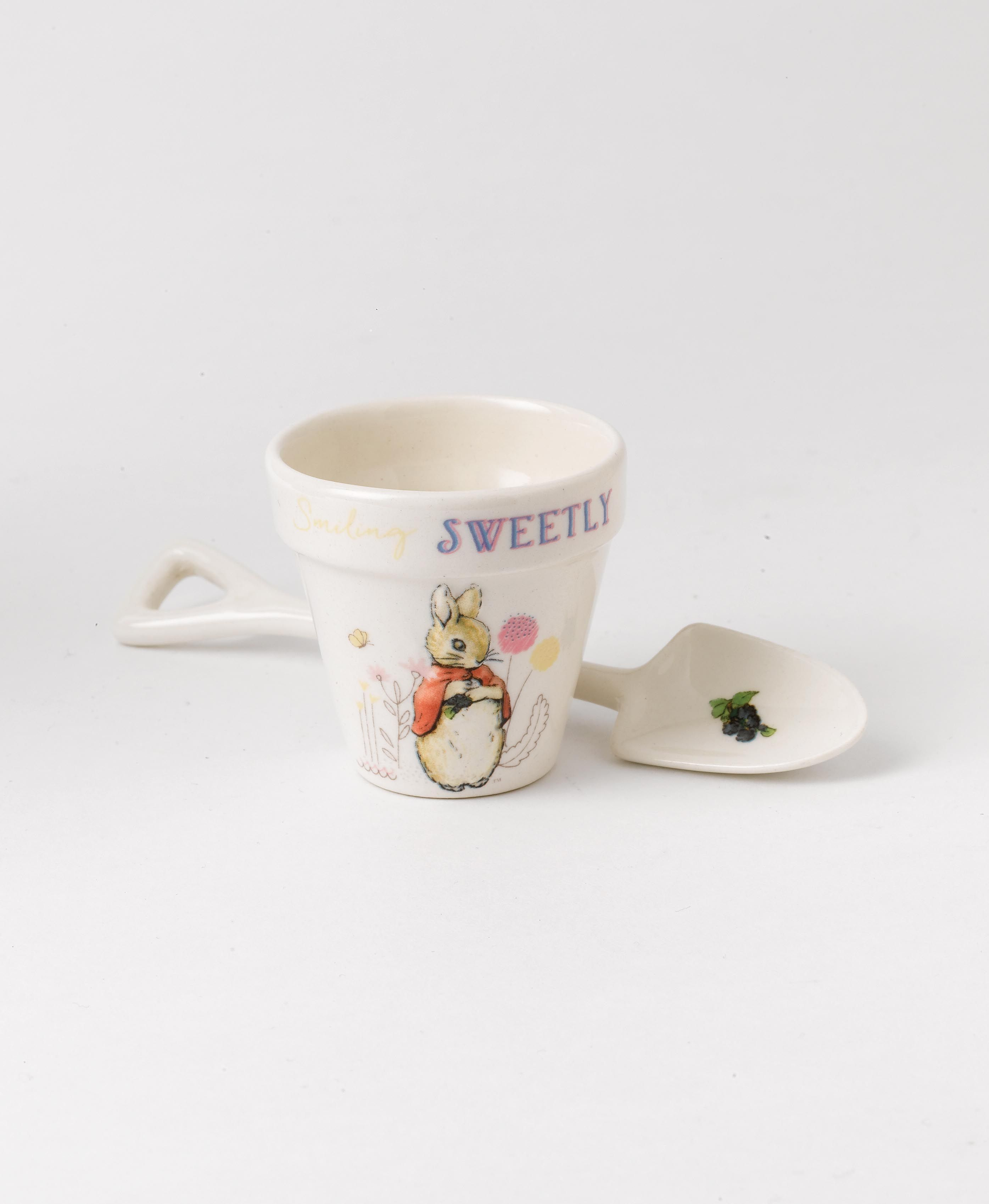 Flopsy Egg Cup & Spoon Set, Perfect for dippy eggs! #BeatrixPotter #DippyEggs #Flopsy