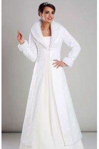 Bol ro de mariage manteau mari e hiver fausse fourrure satin ivoire accessoires de la - Manteau mariage hiver ...