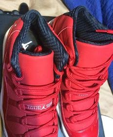 Here is new images of the Air Jordan 11 Red White Retro Ray Allen Carmelo  Anthony PE Sneaker 4b99656a4