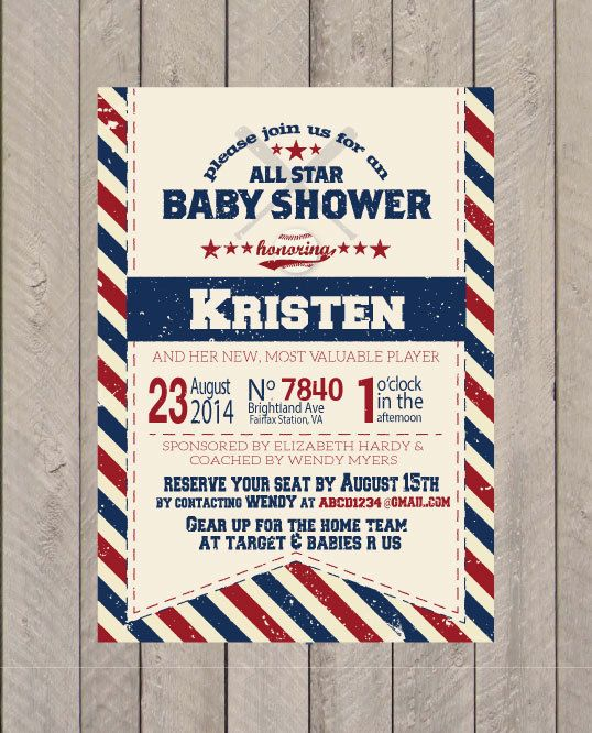 baseball baby shower invitation baseball birthday invite baseball