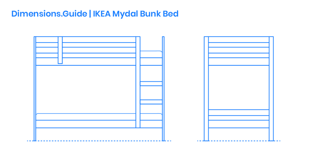 The Ikea Mydal Bunk Bed Is A Durable And Untreated Solid Pine Wood Bunk Bed That Can Be Left Natural Or Painted As Desired The Ikea Mydal Bunk Bed Is Des