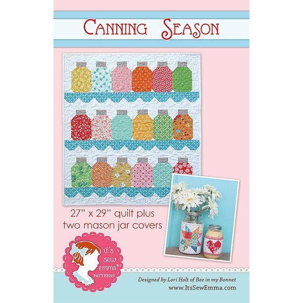Canning Season by It's Sew Emma Quilt Pattern & Mason Jar Covers ... : mason jar quilt shop - Adamdwight.com