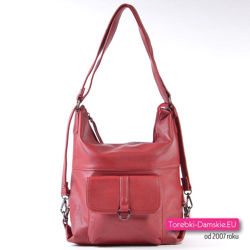 1d2db2d5c9db1 Czerwona torebka i plecak damski w jednym