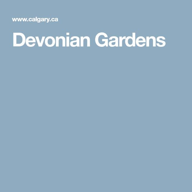 Terraces At Town Center: Devonian Gardens In 2019