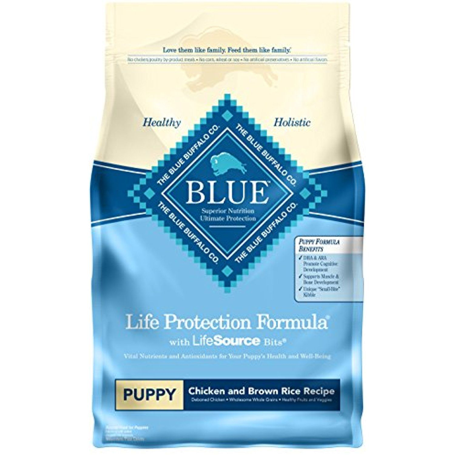 Blue Life Protection Formula Puppy Chicken And Brown Rice Dry Dog