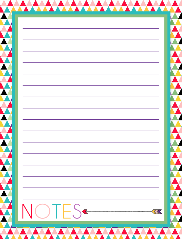 photograph about Printable Note Pages named No cost Printable Notes Website page 2016 Planner Stationary
