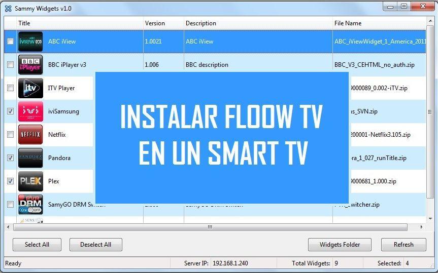 Mega Tutorial Para Instalar App Floow Tv En Cualquier Smart Tv Compatible Con Sammy Widget Truco P Aplicaciones Para Smart Tv Smart Tv Antenas Para Tv