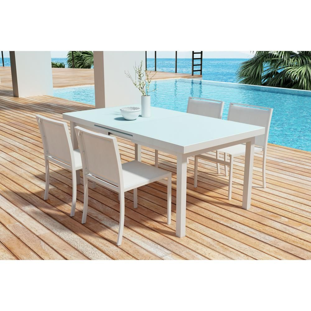 Zuo mayakoba aluminum outdoor dining table