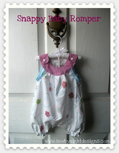 Tutorial: Snappy Baby Romper with Pattern | oma näht | Pinterest ...