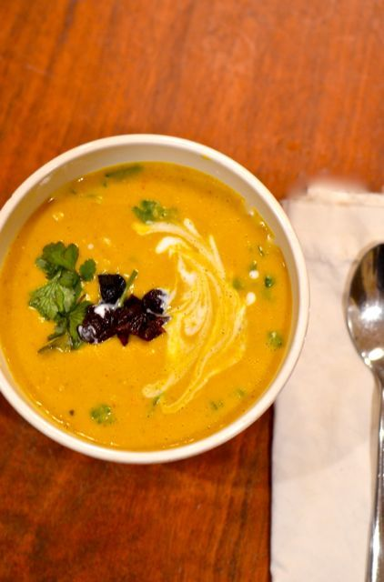 Curried Red Lentil Soup: I added Cauliflower and some thai flair.