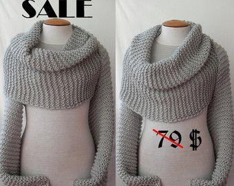 d2d9c3b42169 Brodé châle de laine, écharpe en laine tissée couverture, léger châle, châle  beige, chaud hiver châle, ...