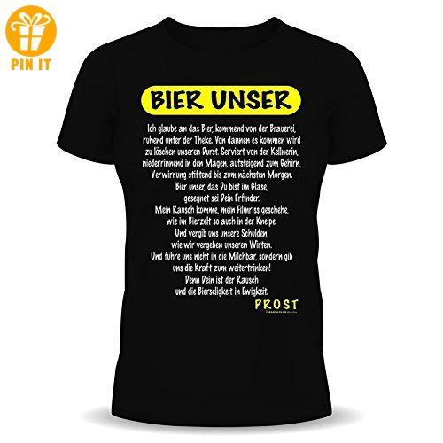 Funshirt Spaßshirt T-Shirt Bier unser - T-Shirts mit Spruch | Lustige und coole T-Shirts | Funny T-Shirts (*Partner-Link)