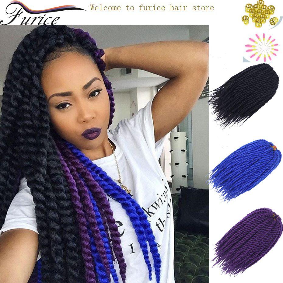 Bluepurplenature black braiding hair havana mambo twist hair