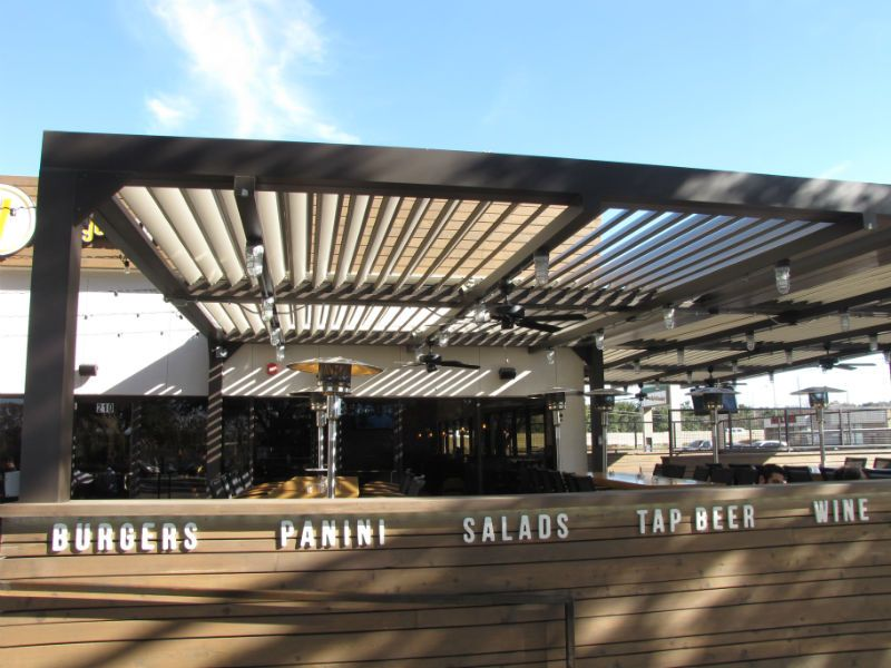 Commercial Patio Covers | Equinox Louvered Roofs | Openingroofdfw.com