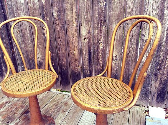 Tremendous Antique Gilt Bentwood Cane Thonet Style Swivel Chairs Short Links Chair Design For Home Short Linksinfo